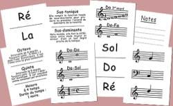 J'apprends les notes de musique Jeu musical pour enfant laflutedepan