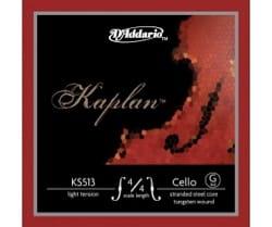 Corde de SOL D'ADDARIO pour VIOLONCELLE 4/4 KAPLAN™ - Tirant MOYEN laflutedepan