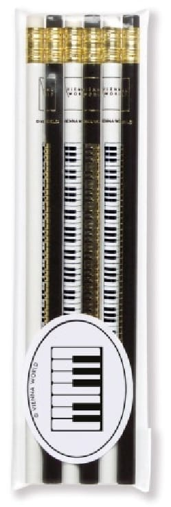 Cadeaux - Musique - Set mit 6 Bleistiften - PIANO KEYBOARD - Accessoire - di-arezzo.de