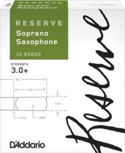 D'Addario Réserve - Anches Saxophone Soprano 3+ laflutedepan