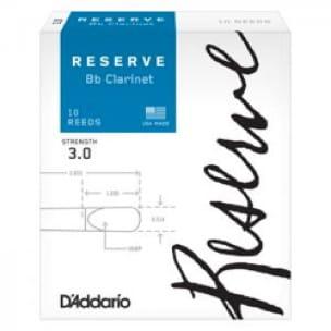 D'Addario Réserve - Anches Clarinette Sib 3.0 - laflutedepan.com