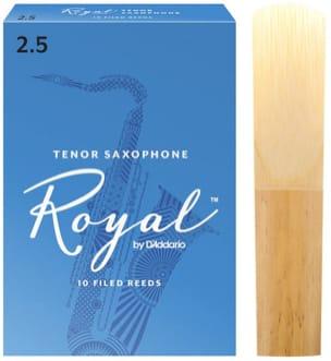 D'Addario Rico Royal - Anches Saxophone Ténor 2.5 laflutedepan