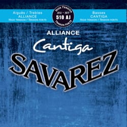 Cordes pour Guitare Classique - SET of Guitar Strings SAVAREZ CANTIGA ALLIANCE BLUE strong tension - Accessoire - di-arezzo.co.uk
