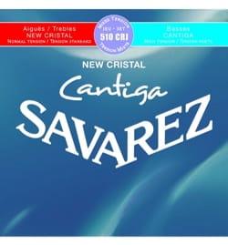 JEU de Cordes pour Guitare SAVAREZ CANTIGA NEW CRISTAL BLEU / ROUGE tension mi laflutedepan