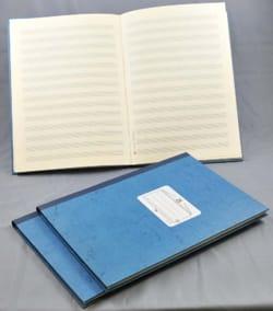Cahier de Musique - Relié - 14 portées - 96 pages laflutedepan