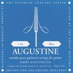 JEU de Cordes pour Guitare AUGUSTINE bleu tirant fort laflutedepan