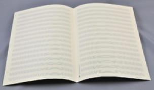 Papier à Musique - 16 portées - Format A4 - laflutedepan.com