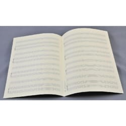 Papier à Musique - Music Paper - Special CHANT (or INSTRUMENT) and PIANO - Grape Format - Papier - di-arezzo.co.uk