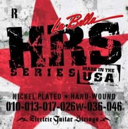 JEU de Cordes pour Guitare LA BELLA HRSR Nickel-Plated Round Wound laflutedepan