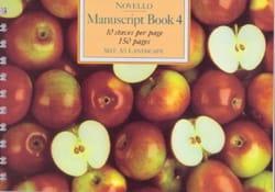 Manuscript Book 4 Cahier de Musique Papier laflutedepan