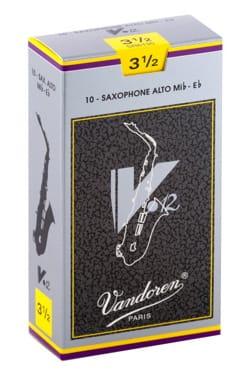 Boite de 10 anches VANDOREN série V12 pour SAXOPHONE ALTO force 3,5 laflutedepan