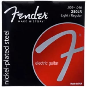 Jeu de 6 Cordes Fender 250LR Acier plaqué nickel guitare électrique Light/regula - laflutedepan.com