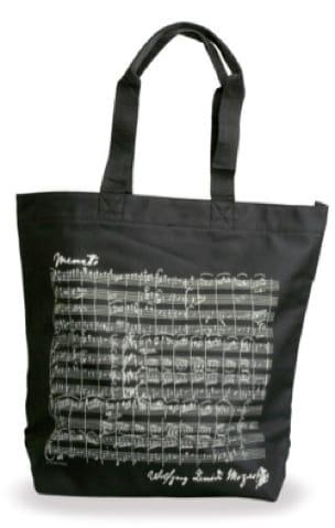 Sac Shopping - NOIR - MOZART - Cadeaux - Musique - laflutedepan.com