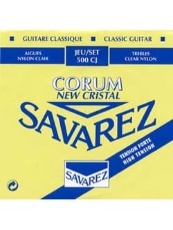 JEU de Cordes pour Guitare SAVAREZ NEW CRISTAL CORUM BLEU tension forte laflutedepan