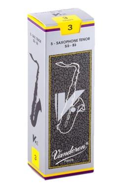 Boite de 5 anches VANDOREN série V12 pour SAXOPHONE TENOR force 3 laflutedepan