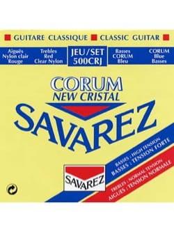 JEU de Cordes pour Guitare SAVAREZ NEW CRISTAL CORUM ROUGE / BLEU tension mixt laflutedepan