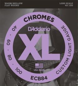 Cordes pour Guitare - D'Addario CDDECB84 4 String Set Chromes Custom Light Gauge for Bass Guitar - Accessoire - di-arezzo.co.uk