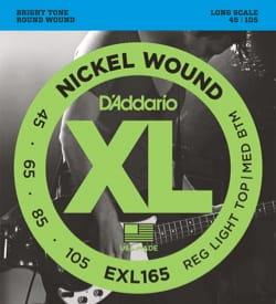 Cordes pour Guitare - Addario Nickel String Set para guitarra baja EXL165, luz personalizada, 45-10 - Accessoire - di-arezzo.es