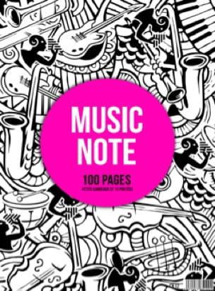 Cahier de Musique à spirale MIXTE : Portées et Petits Carreaux - MUSIC NOTE - laflutedepan.com
