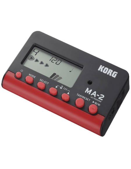 Métronome KORG - MA-2 Noir et Rouge - laflutedepan.com