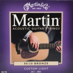 Cordes pour Guitare - Juego de cuerdas para guitarra MARTIN FOLK Bronce Custom light - 11-52 - Accessoire - di-arezzo.es