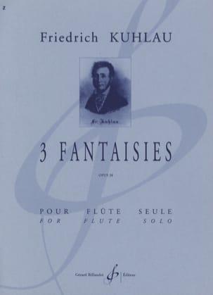 3 Fantaisies op. 38 - Flûte solo Friedrich Kuhlau laflutedepan