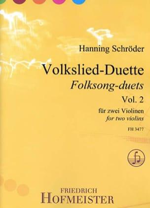 Volkslied-Duette, vol. 2 - 2 violons - laflutedepan.com