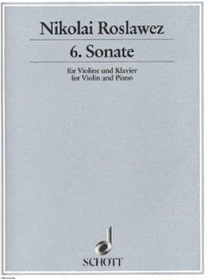 Sonate n° 6 - Violine - Nikolai Roslawez - laflutedepan.com