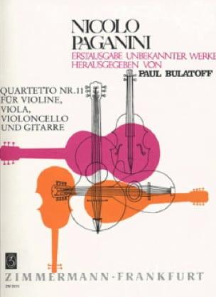 Quartetto Nr. 11 -Stimmen - PAGANINI - Partition - laflutedepan.com