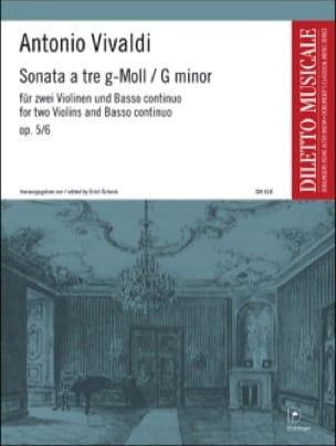 Sonata a tre g-moll op. 5 n° 6 -2 Violinen Bc - laflutedepan.com