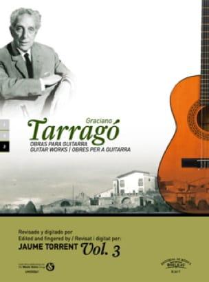 Oeuvres pour guitare vol. 3 - Graciano Tarrago - laflutedepan.com