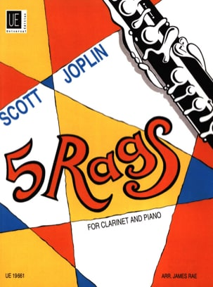 5 Rags for Clarinet and piano JOPLIN Partition laflutedepan