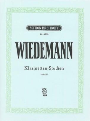 Klarinetten-Studien, Bd III Ludwig Wiedemann Partition laflutedepan