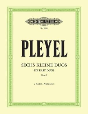 6 Petits Duos Op. 8 - 2 Violen Ignaz Pleyel Partition laflutedepan