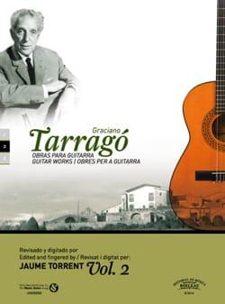 Oeuvres pour guitare vol. 2 Graciano Tarrago Partition laflutedepan