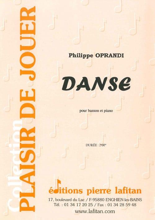 Danse - Philippe Oprandi - Partition - Basson - laflutedepan.com
