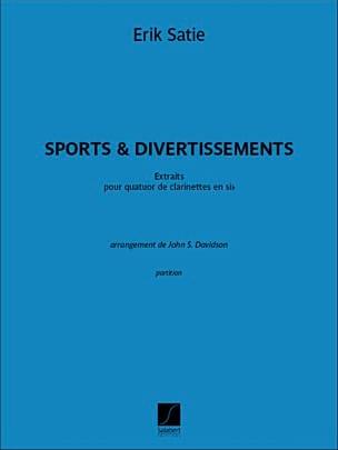 Sports et Divertissements SATIE Partition Clarinette - laflutedepan