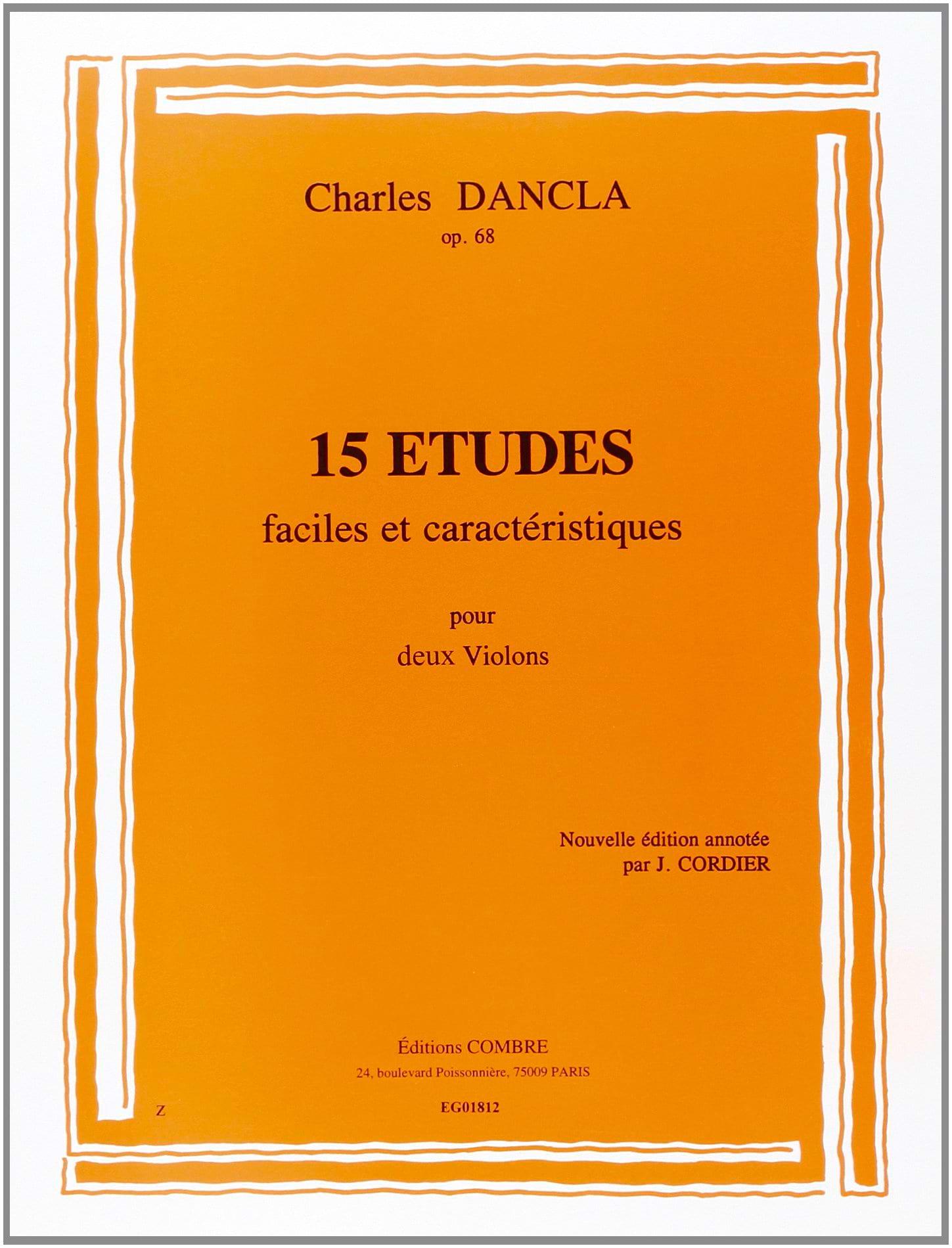 15 Etudes op. 68 - DANCLA - Partition - Violon - laflutedepan.com