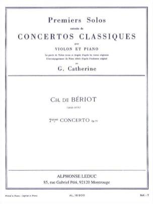 1er Solo du Concerto n° 7 op. 73 BÉRIOT Partition laflutedepan