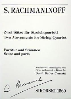 Zwei Sätze für Streichquartett RACHMANINOV Partition laflutedepan