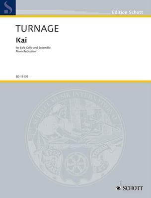 Kai Mark-Anthony Turnage Partition Violoncelle - laflutedepan