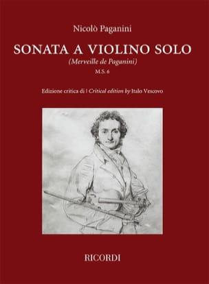 Sonata a violino solo - Violon PAGANINI Partition laflutedepan
