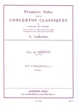 1er Solo du Concerto n° 9 op. 103 BÉRIOT Partition laflutedepan