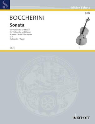 Sonate en la majeur, G. 4 BOCCHERINI Partition laflutedepan