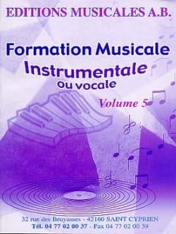 FM Instrumentale Ou Vocale Volume 5 AB Partition laflutedepan