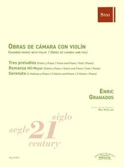 Musique de chambre avec violon GRANADOS Partition laflutedepan