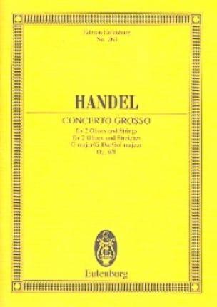 Concerto grosso G-Dur - HAENDEL - Partition - laflutedepan.com