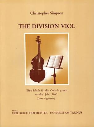 The Division Viol Christopher Simpson Partition laflutedepan