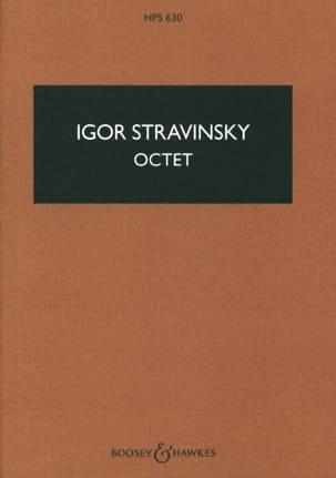 Octet - Score STRAVINSKY Partition Petit format - laflutedepan