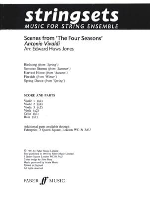 Scenes From The Four Seasons VIVALDI Partition laflutedepan